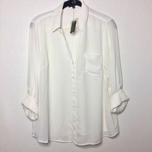 NWT The Limited Petite Sheer Blouse